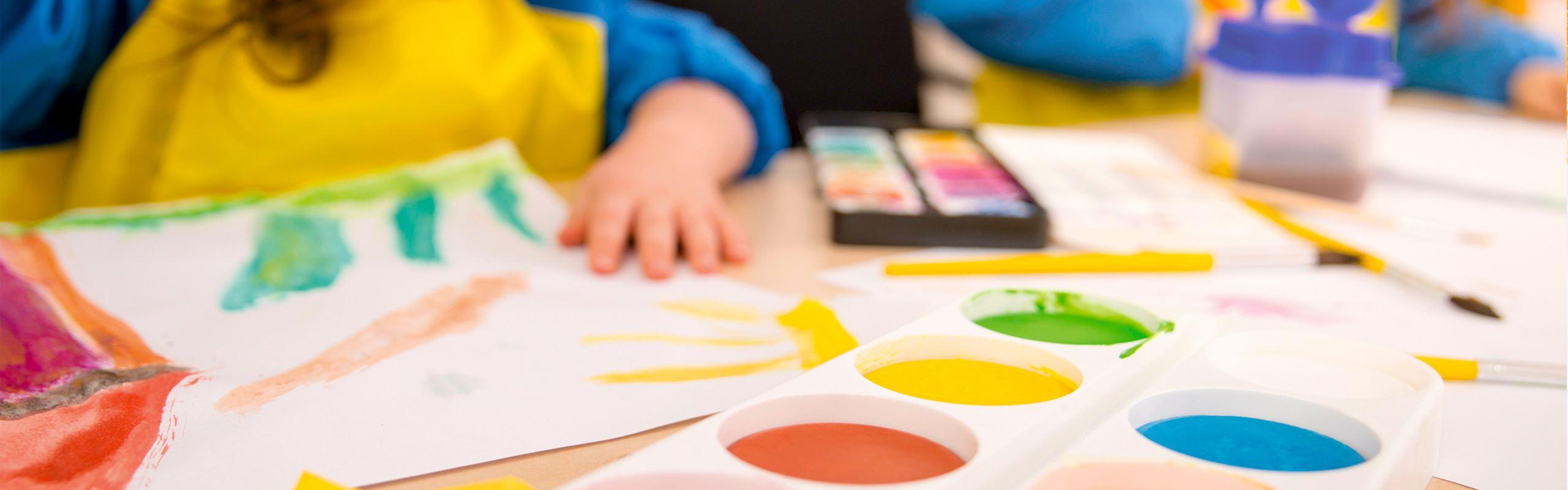 Painting for kindergarten kids