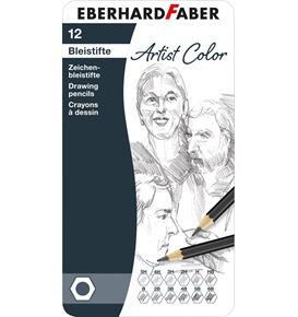 Eberhard-Faber - Drawing pencil tin of 12