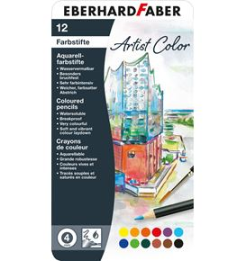 Eberhard-Faber - Watercoloured pencil Artist Color round tin of 12