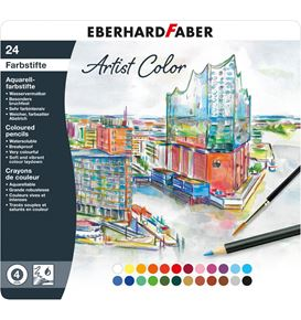 Eberhard-Faber - Watercoloured pencil Artist Color round tin of 24