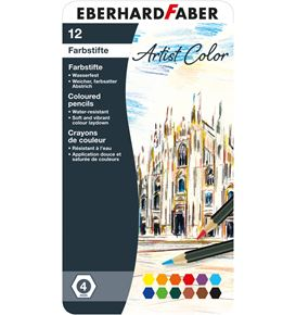 Eberhard-Faber - Coloured pencil Artist Color hexagonal tin of 12