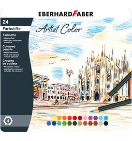 Eberhard-Faber - Coloured pencil Artist Color hexgonal tin of 24