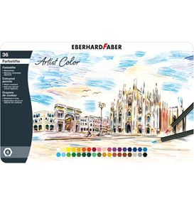 Eberhard-Faber - Artist Color coloured pencil hexagonal tin of 36