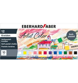 Eberhard-Faber - Soft pastel crayons cardboard box of 12