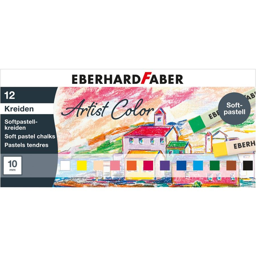 Eberhard-Faber - Artist Color soft pastel crayons cardboard box of 12