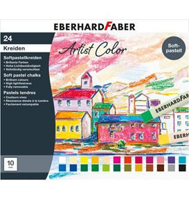 Eberhard-Faber - Soft pastel crayons cardboard box of 24