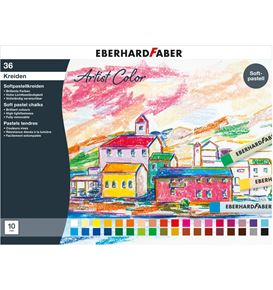 Eberhard-Faber - Soft pastel crayons cardboard box of 36