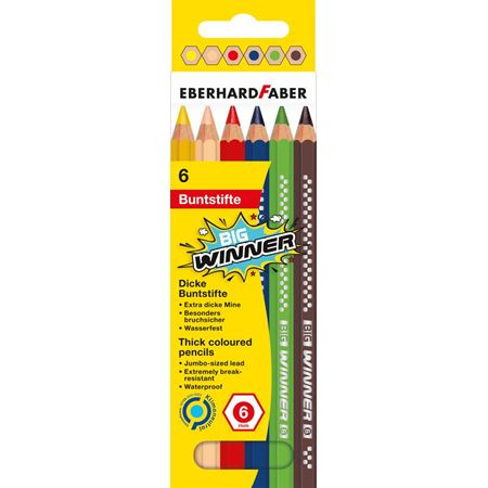 Eberhard-Faber - Coloured pencil BIG Winner box of 6