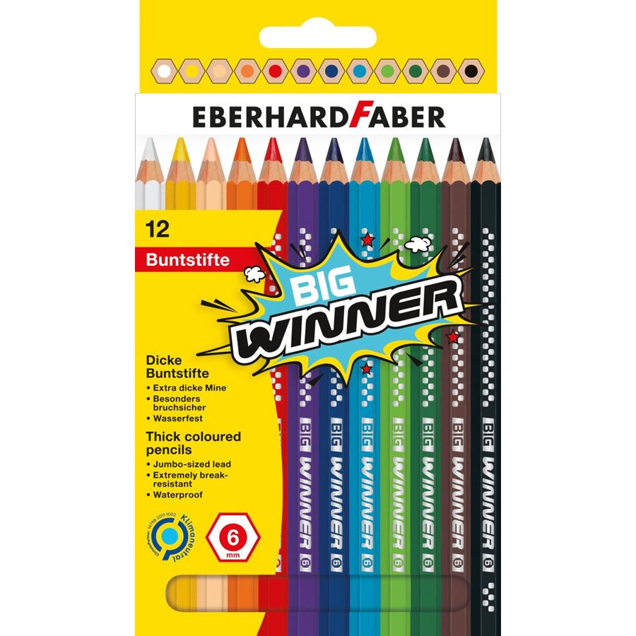 Eberhard-Faber - BIG Winner coloured pencil cardbox of 12