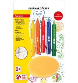 Eberhard-Faber - Mini Kids bath crayons, 5 colours inkl. sponge