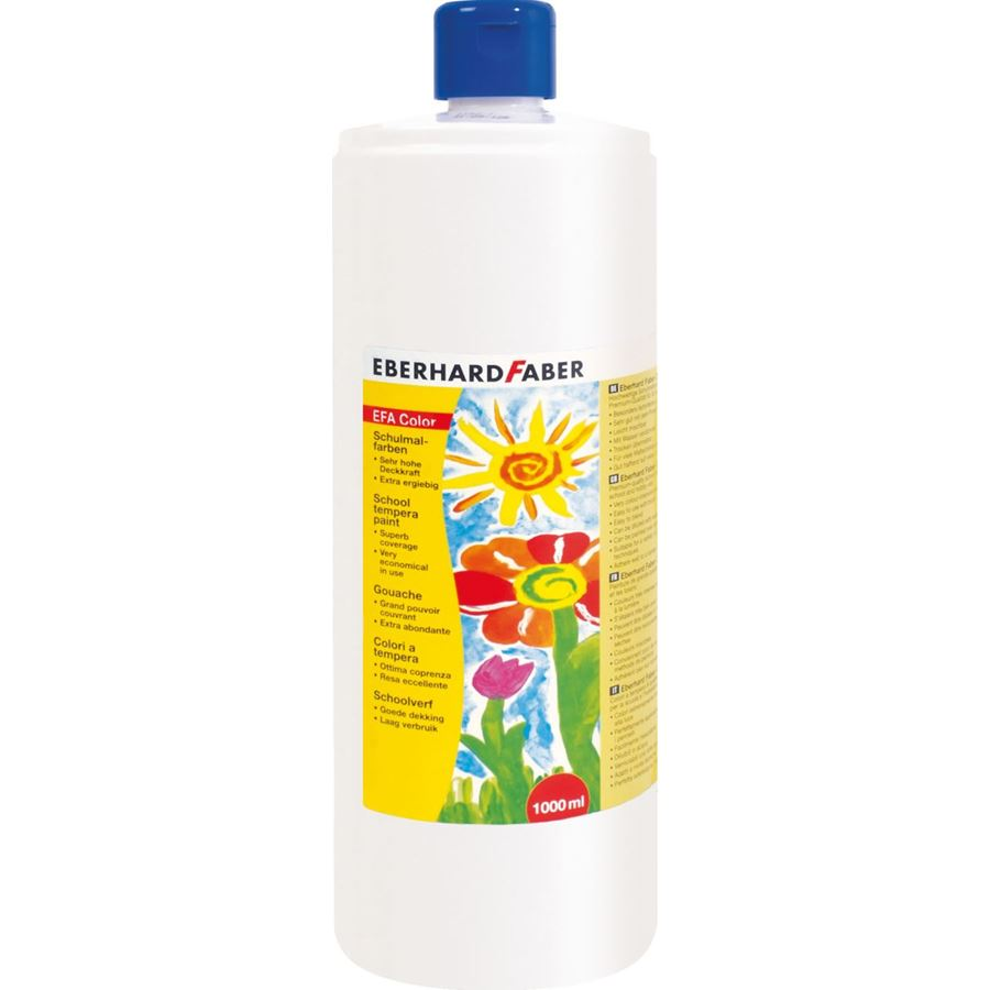 Eberhard-Faber - EFAColor Tempera 1000ml white