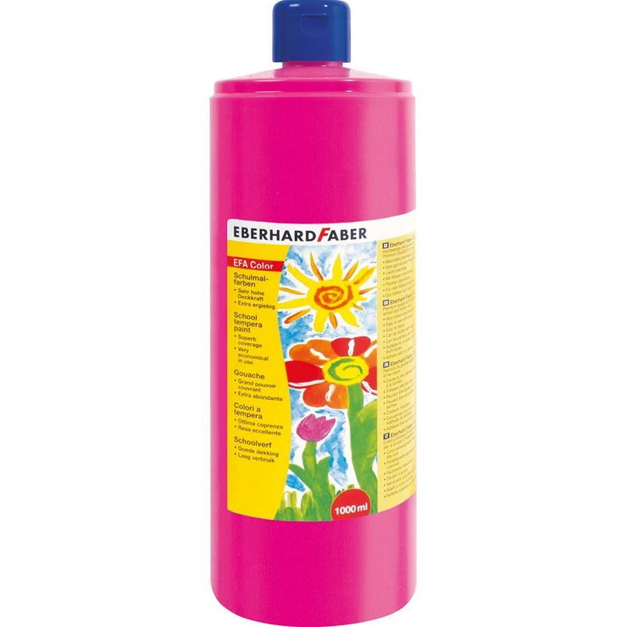 Eberhard-Faber - EFA Color Tempera 1.000 ml bottle, pink carmine