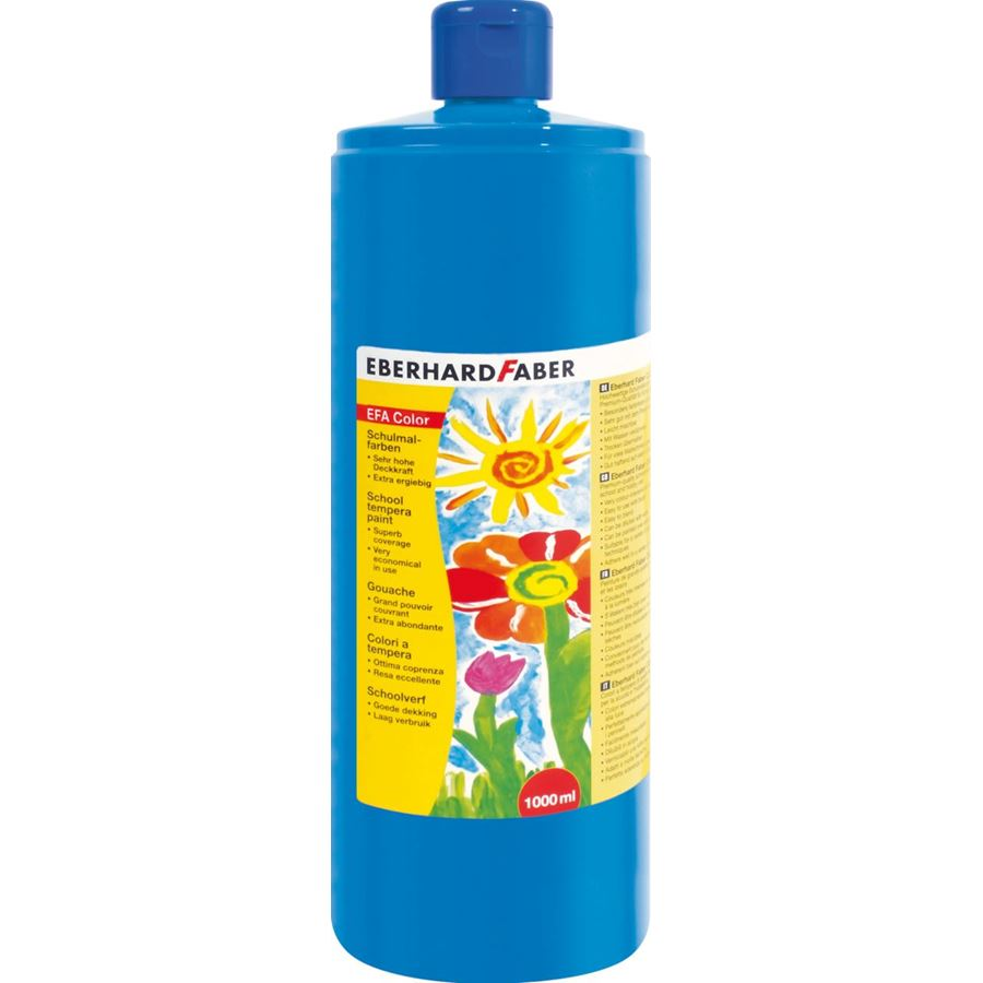 Eberhard-Faber - EFA Color Tempera 1.000 ml bottle, phthalo blue