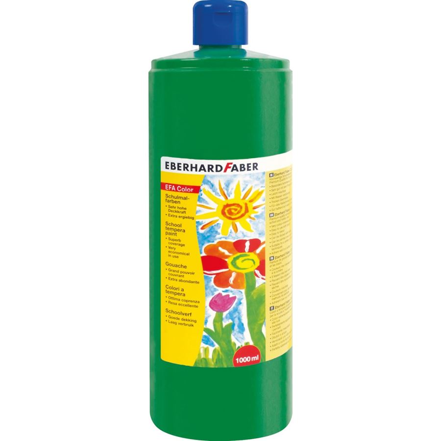 Eberhard-Faber - EFAColor Tempera 1000ml permanent green