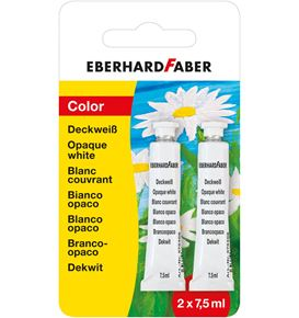 Eberhard-Faber - Opaque white tube 7,5ml set of 2