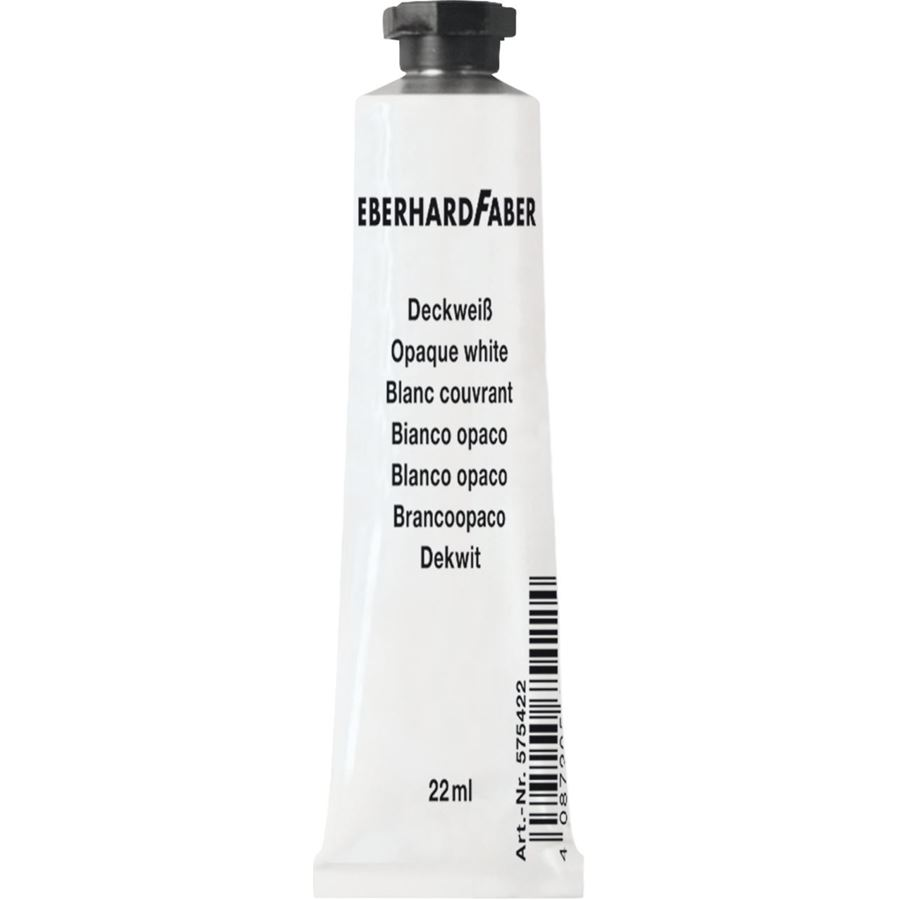 Eberhard-Faber - Opaque white tube 22 ml
