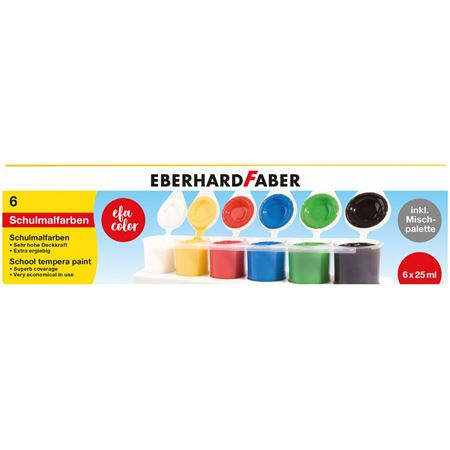 Eberhard-Faber - School tempera of 6 colours à 25ml