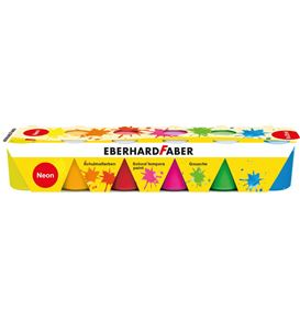 Eberhard-Faber - EFA Color school tempera 25 ml, set of 6 neon colours