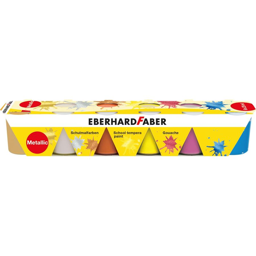 Eberhard-Faber - School tempera paint 6x25ml set metallic