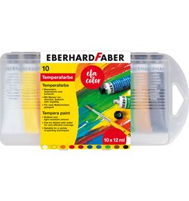 Eberhard-Faber - Tempera paint 12ml in plastic box of 10