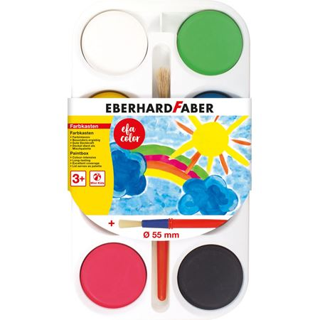 Eberhard-Faber - Paintbox of 8 colour tablets 55mm