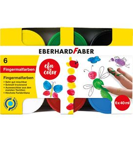 Eberhard-Faber - Finger paints 6x 40ml box
