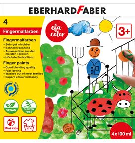 Eberhard-Faber - EFA Color Finger paints 100 ml, box of 4 colours