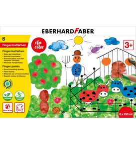 Eberhard-Faber - EFAColor Finger Paints set of 6 colours à 100ml