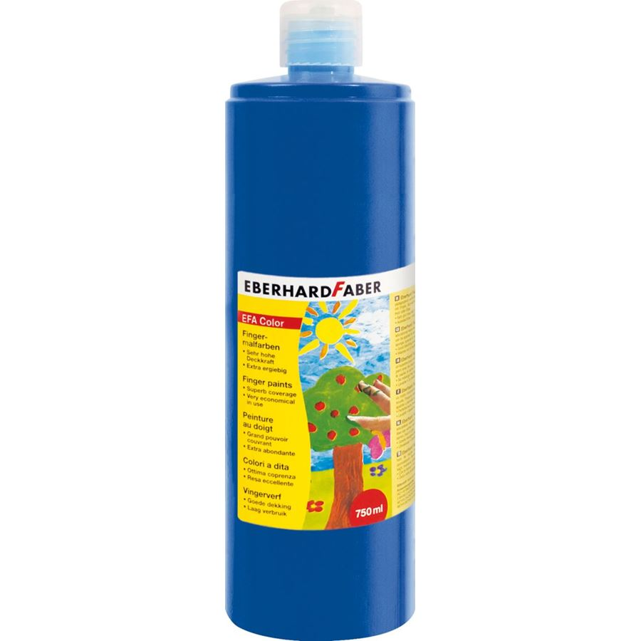 Eberhard-Faber - EFA Color Finger paints 750 ml, cobalt blue