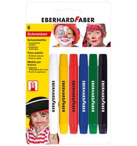 Eberhard-Faber - 6 Twistable face paint pencils