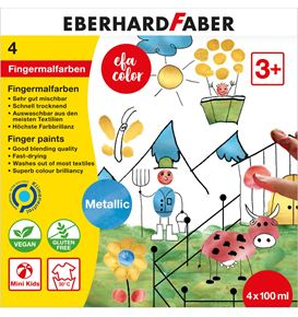 Eberhard-Faber - Finger Paints metallic 4 x 100ml