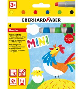 Eberhard-Faber - Gel crayons basic cardboard box of 6
