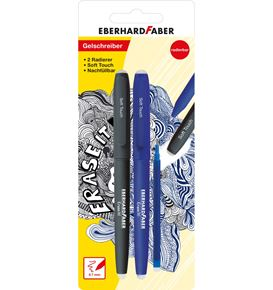 Eberhard-Faber - Erase it! Gel roller erasable, set of 2 pens + blue refill