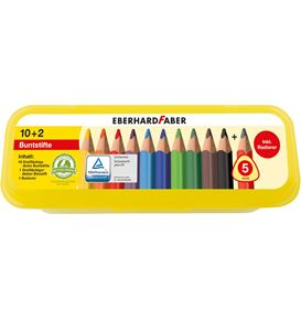 Eberhard-Faber - Coloured pencil Jumbo triangular box of 10+2 pcs