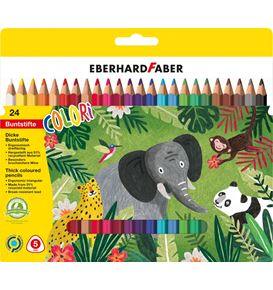 Eberhard-Faber - Colori Colour pencils Jumbo cardboard box of 24