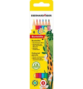 Eberhard-Faber - Colori coloured pencil hexagonal cardboard box of 6