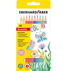 Eberhard-Faber - Colori coloured pencils pastel hexagonal cardboard box of 10