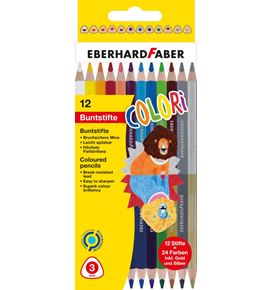 Eberhard-Faber - Duo coloured pencil hexagonal cardbaordbox of 12