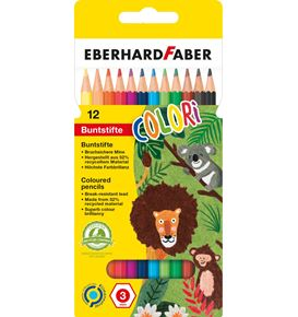 Eberhard-Faber - Coloured pencil hexagonal cardboard box of 12