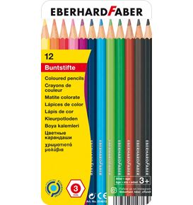 Eberhard-Faber - Coloured pencil hexagonal tin of 12
