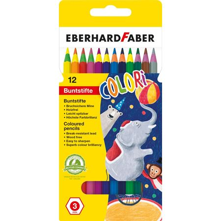 "Eberhard-Faber - Coloured pencil ""Colori"" cardboard box of 12"