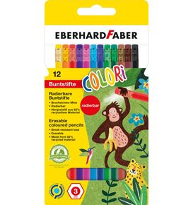 Eberhard-Faber - Colori colour pencils erasable cardboard box of 12