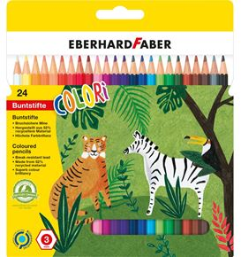 Eberhard-Faber - Colori coloured pencil hexagonal cardboard box of 24