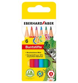 Eberhard-Faber - Colori coloured pencil hexagonal short cardboard box of 6