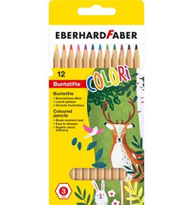 Eberhard-Faber - Coloured pencil hexagonal nature cardboard box of 12
