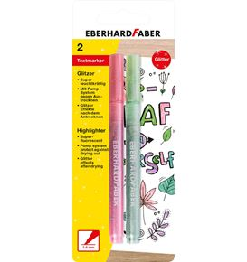 Eberhard-Faber - Highlighter glitter pastel, pink & green