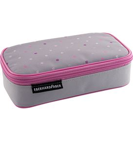 Eberhard-Faber - Jumbo pencil case pink dots, empty