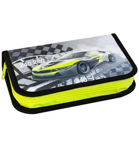 Eberhard-Faber - Pencil case Race Car filled with 32 pcs