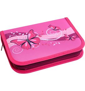Eberhard-Faber - Pencil case Butterfly filled with 32 pcs