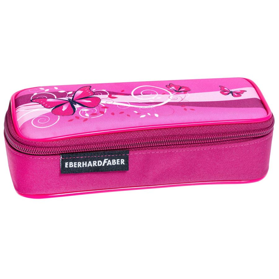 Eberhard-Faber - Pencil case butterfly pink empty